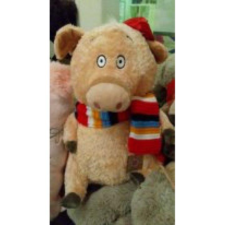 Мягкая игрушка Поросенок в шарфике