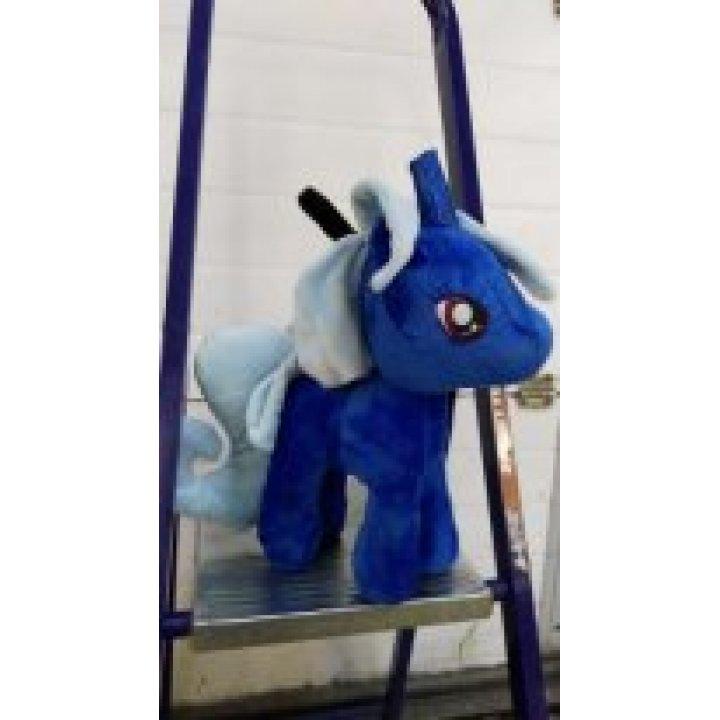 Мягкая игрушка Единорог синий