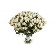 Кустовые розы Сноуфлэйк