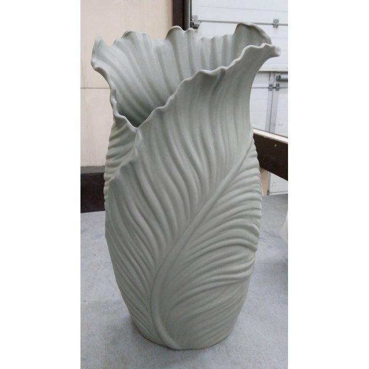 Керамическая напольная ваза Лист папоротника