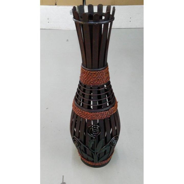 Напольная ваза деревянная с узором