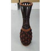 Напольная ваза деревянная с плетением
