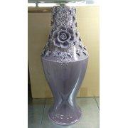 Керамическая напольная ваза с розой