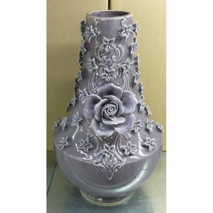 Керамическая ваза малая с розой