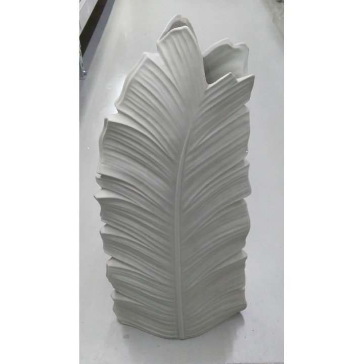 Керамическая напольная ваза большая Лист пальмы