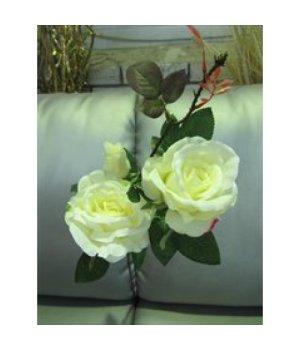 Роза искусственная белая